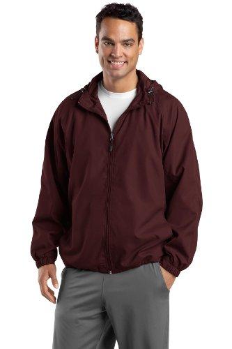 Tek raglán hombre capucha Granate con Sport chaqueta 1zgdqz