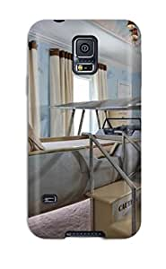 Fashion Tpu Case For Galaxy S5- Children8217s Room With Map Murals Airplane Bed 038 Steps Defender Case Cover