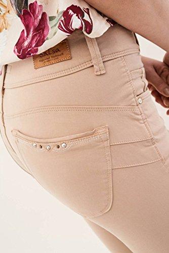 Secret Beige Colore Di Pantaloni Capri Salsa Con Applicazioni 0wI1qt5