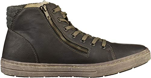 Schwarz 45 Herren Hohe Grau Rauch Granit Rieker 30921 Sneaker 8YT4q