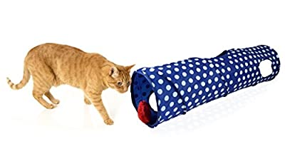 Pet Zone Pounce House Cat Tunnel with Bonus Toy