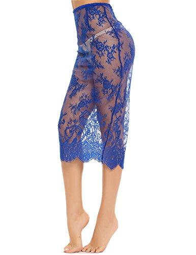 1 Donna Jupe ADOME Bleu modellanti Sottogonna wqv4ZXB1