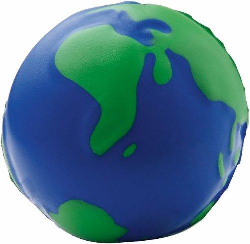 Palla pallina antistress anti stress a forma di mondo globo terrestre No Brand