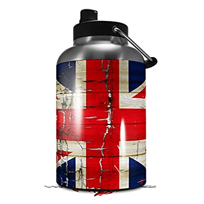 Skin Decal Wrap for 2017 RTIC One Gallon Jug Painted Faded and Cracked Union Jack British Flag (Jug NOT INCLUDED) by WraptorSkinz