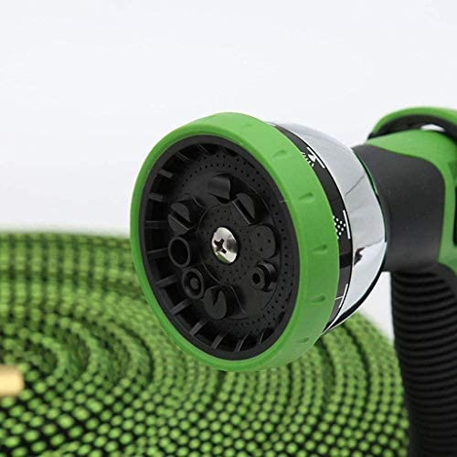 25ft-100ft Expandable Garden Hose, Flexible Water Hose with Double Latex Core, Solid Brass Connector Fittings and 9 Function Spray Nozzle (Size : 50FT),Size:50FT (Size : 50FT)