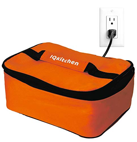IQ Kitchen Personal Portable Mini Oven Electric Bento Insulated Lunch Box Food Warmer Hot Meals (Orange)