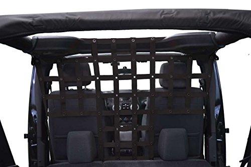 Pet Divider Behind Front Seats - for Jeep JKU 4 Door - Black
