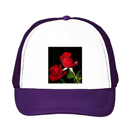 Candow College Trucker Hats Flower Bloom Garden Cool Snapback Hats Purple