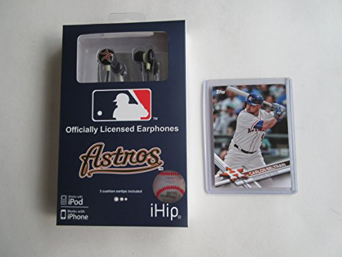 HOUSTON ASTROS 2017 WORLD SERIES CHAMPIONS NOISE ISOLATING EAR-PHONES PLUS COLLECTIBLE PLAYER CARD from SPORTS TEAM PRODUCTS