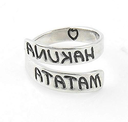 Campton New Fashion Engraved Letters Infinite Opening Adjustable Finger Ring Couple Gift | Model RNG - 1692 |
