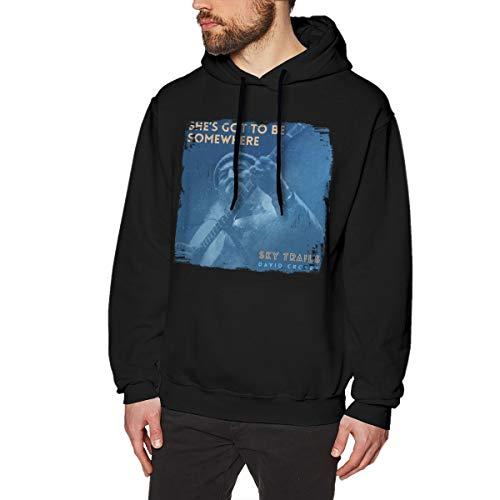 Yuliang David Crosby She's Got to Be Somewhere Men's Popular Jacket Hoodie Sweatshirt XL Black (Shes Got To Be Somewhere David Crosby)