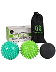 GUARD & REVIVAL TREAT Foot Massage Roller Ball - Exercise Ball Massager for Plantar Fasciitis - Great for Heel & Foot Arch Pain Relief