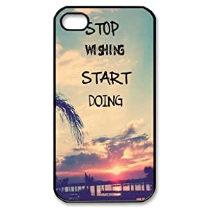 YNACASE(TM) Stop Wishing,Star Doing Personalized Cell Phone Case for iPhone 4,4G,4S,Custom Cover Case with Stop Wishing,Star Doing