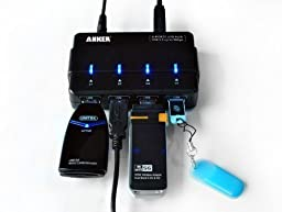 Anker AH111 USB 3.0 4-Port Hub with 12V 2A Power Adapter and 3ft USB 3.0 Cable [VIA VL812 Chipset]