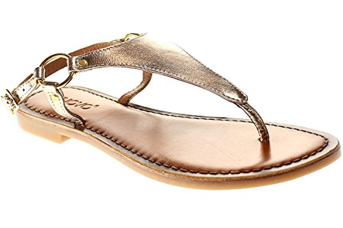 Pantolette Zehentrenner gold 7267 Inuovo Sandalette Damen qUtpvxZS
