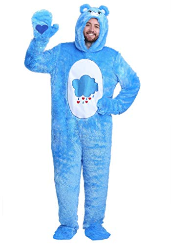 Adult Care Bears Classic Grumpy Bear Costume Grumpy Bear Onesie Suit for Men and Women X-Large Blue]()