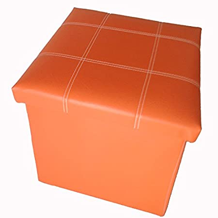 GMMH original caja plegable 38 x 38 x 38 cm Taburete cubo de almacenamiento para sentarse Amarillo