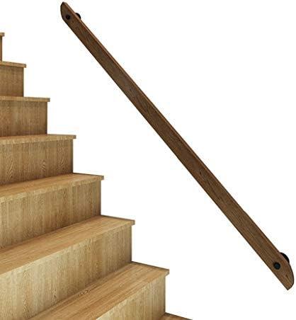 Pasamanos de escalera de madera maciza, Barandilla antideslizante, Loft interior Pasamanos de barandas para ancianos,Manija de acceso al hospital de la barandilla del ático del corredor,Soporta 250k: Amazon.es: Hogar