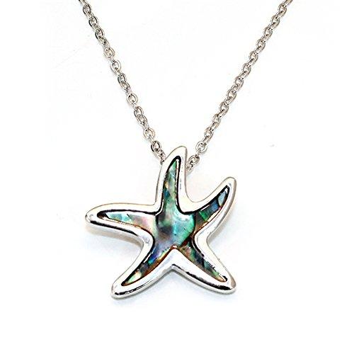 rm Pendant Fashionable Necklace - Abalone Paua Shell - 18