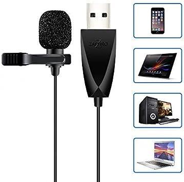 Amazon.com: Zaffiro - Micrófono USB profesional para ...