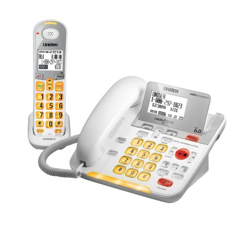 D3098 DECT 6.0 Expandable Corded/Cordless Phone withCaller ID and Answering System, White, 1 Handset and 1 Base ()