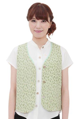 Kyo-Sakura Women's Kimono Vest Pineapple K102 Us 6(Jp 9) Green Made in - K102 9