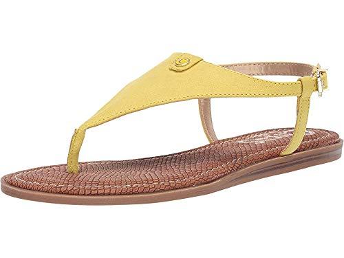 - Circus by Sam Edelman Women's Carolina Flat Sandal Sharp Yellow Microsuede 11 M US