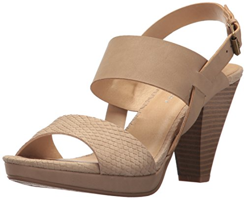CL by Chinese Laundry Women's Worthy Heeled Sandal, Nude Snake/Nubuck, 8 M US