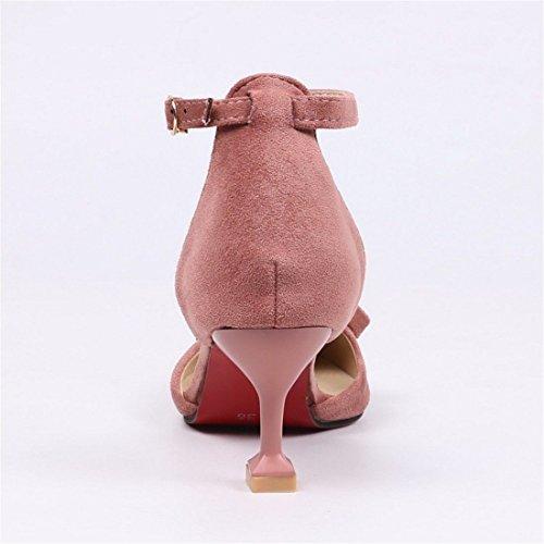 un de Sandalias con Mujeres Punta para Mujer Sandalias Verano Mujer Pulsera con Pink cenas de Elegantes Sandalia Gran Número SZqnFwTn7