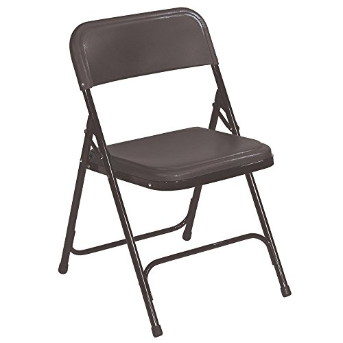 National Public Seating Premium Lightweight Blow Molded Folding Chair - 4 Pack