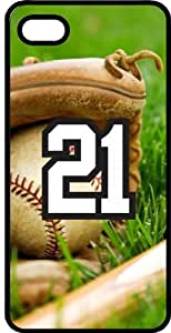 Baseball Sports Fan Player Number 21 Black Plastic Decorative iphone 6 4.7 Case