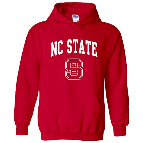AH03 - North Carolina State Wolfpack Arch Logo Hoodie - Small - Red