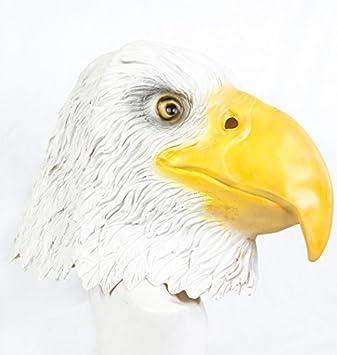 The Rubber Plantation TM 619219293679 - Máscara de águila de látex, diseño de pájaros de