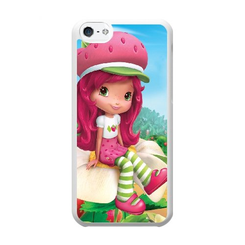 Coque,Coque iphone 5C Case Coque, Strawberry Shortcake Cast Cover For Coque iphone 5C Cell Phone Case Cover blanc