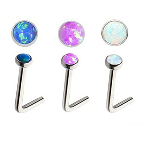 Lots of 3pcs 20g Stainless Steel Sparkle - Black Cabochon Barbell Shopping Results