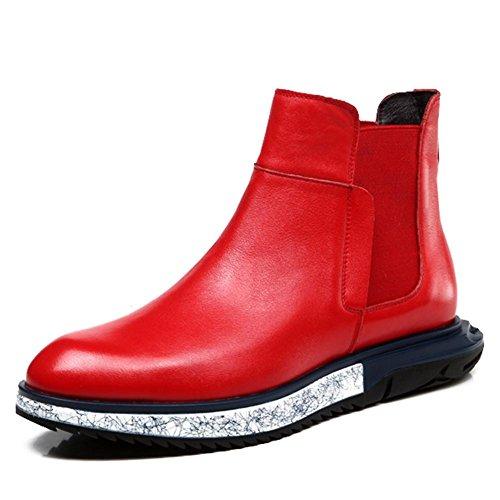 Stivali invernali per uomini e laine-tendance Uomo Alta Martin England Casual Shoes rosso
