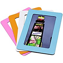 Magnetic Photo Picture Frames and Refrigerator Magnets, Pocket Frame, Holds 4 x 6 Inches Photos, 4 Pack (Vibrant Color)