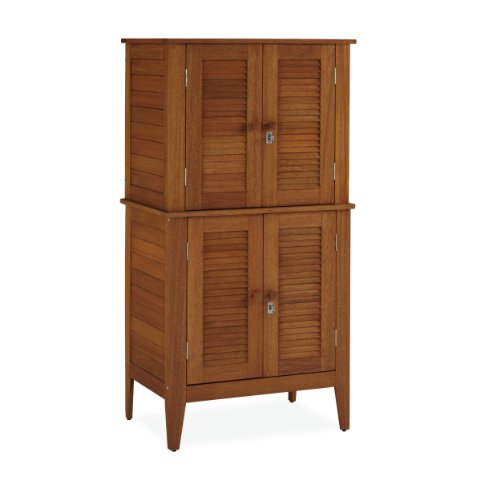 Home Styles Montego Bay Outdoor Multi-Purpose Storage Cabinet, Four Door (Outdoor Wood Storage Cabinet)
