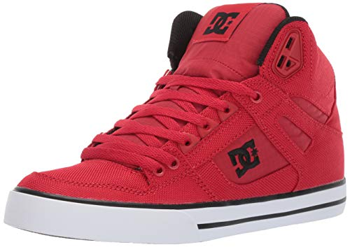 DC Men's Pure HIGH-TOP WC TX SE Skate Shoe, red, 14 M US
