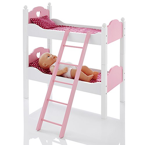Molly Dolly Dolls Wooden Bunk Bed