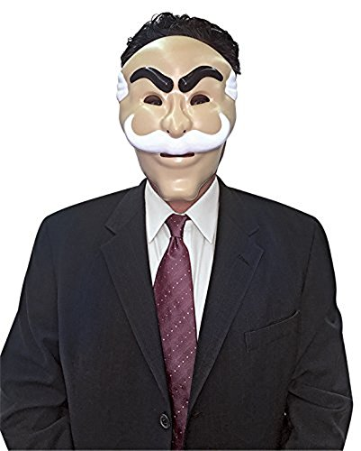 Mr White Costume (Mr. Robot Mask, Officially Licensed by NBC Universal)