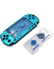 OSTENT Full Housing Shell Faceplate Case Repair Replacement Compatible for Sony PSP 3000 Console Color Blue