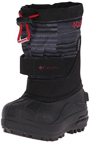Columbia TDLR Powderbug Plus Print Winter Boot (Toddler), Black/Chili, 5 M US (Columbia Powderbug Winter Boot)