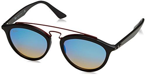 Ray-Ban Women's Injected Woman Non-Polarized Iridium Round Sunglasses, Matte Black, 53 - Female Ray Ban Sunglasses