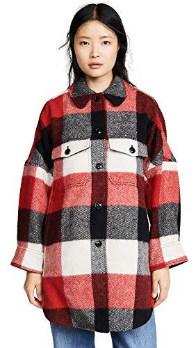 Woolrich Wool Fabric - Woolrich Women's W's Buffalo Coat, Red Plaid, Small