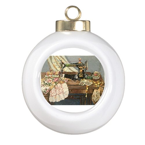 sewing machine christmas ornament - 9