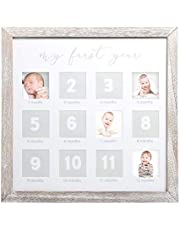 Pearhead My First Year Photo Moments Baby Keepsake Frame, Gift For Mom To Be or Expecting Parents