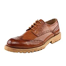 TDA Men's Fashion Floral Leather Penny Dress Shoes Business Martin Oxford