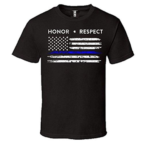 American Respect Policemen T Shirt Officer