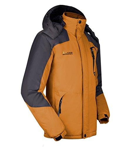 Trekking Giallo Campeggio Softshell Giacche All'aperto Giacca Lorata Cappuccio Impermeabile Da Sci Outdoor Sportivi Vento Per Jacket Ciclismo A Uomo Con qOwaH